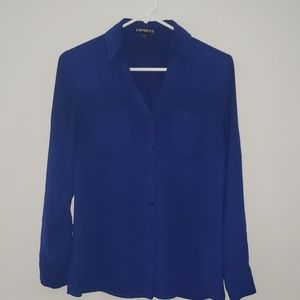 Express Dark Blue portofino long sleeve